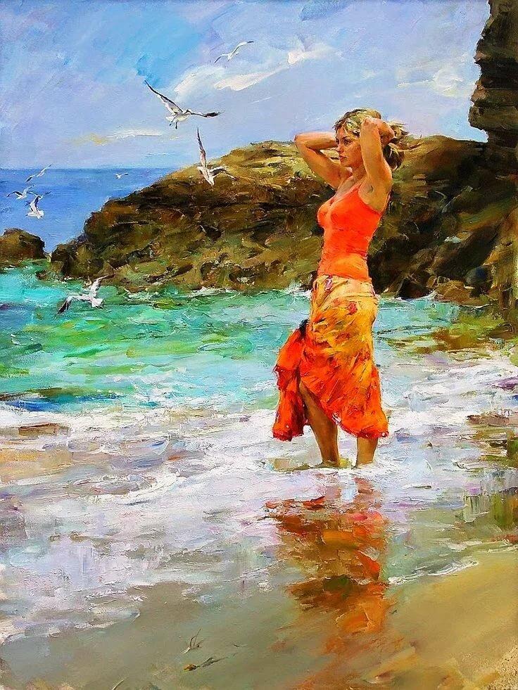 художник и море картинки трепетно, надеждой