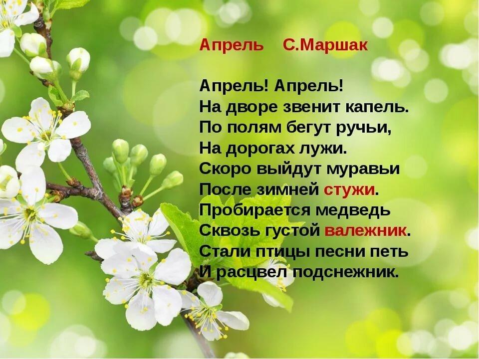Стихи начало весны