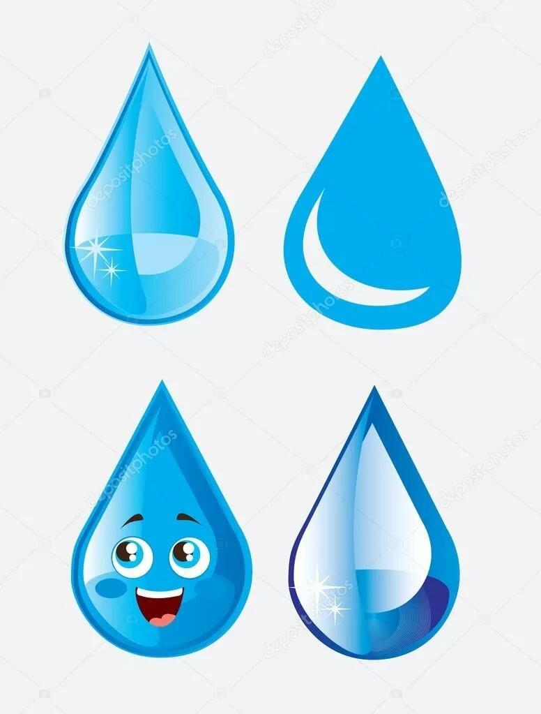 Капельки дождя картинки для детей распечатать