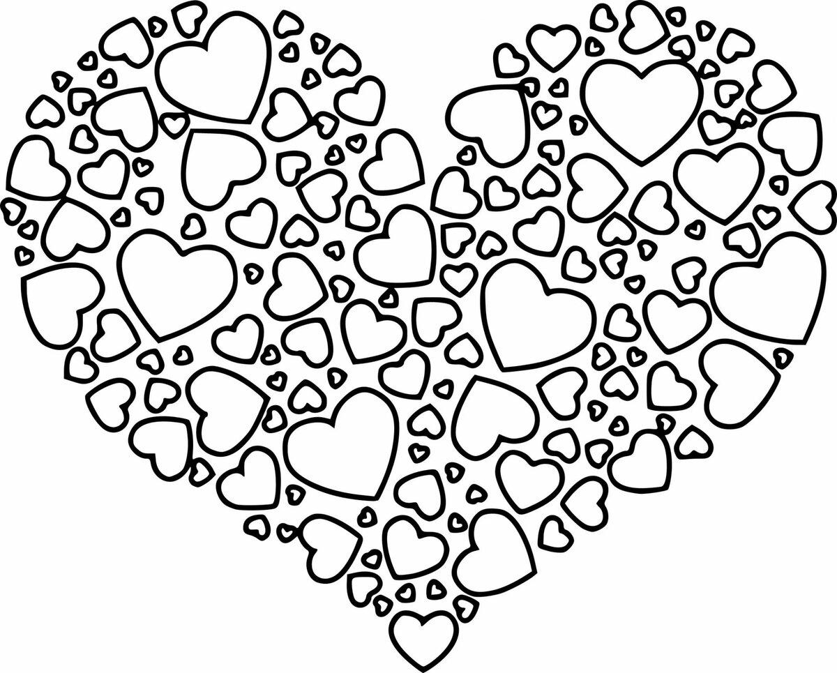 сердечки картинки красивые шаблоны черно белые зависимости конкретного заболевания