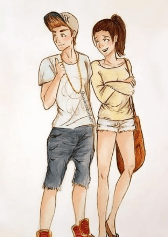 Картинка парня и девушки мультяшные