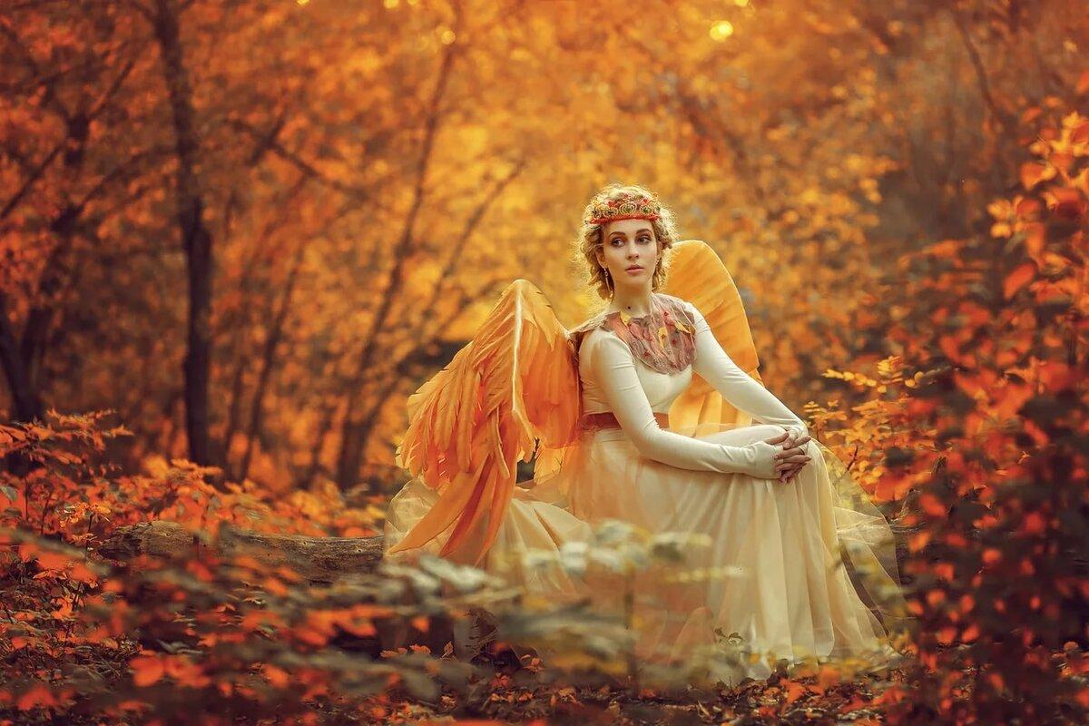 Осень-женщина в картинках