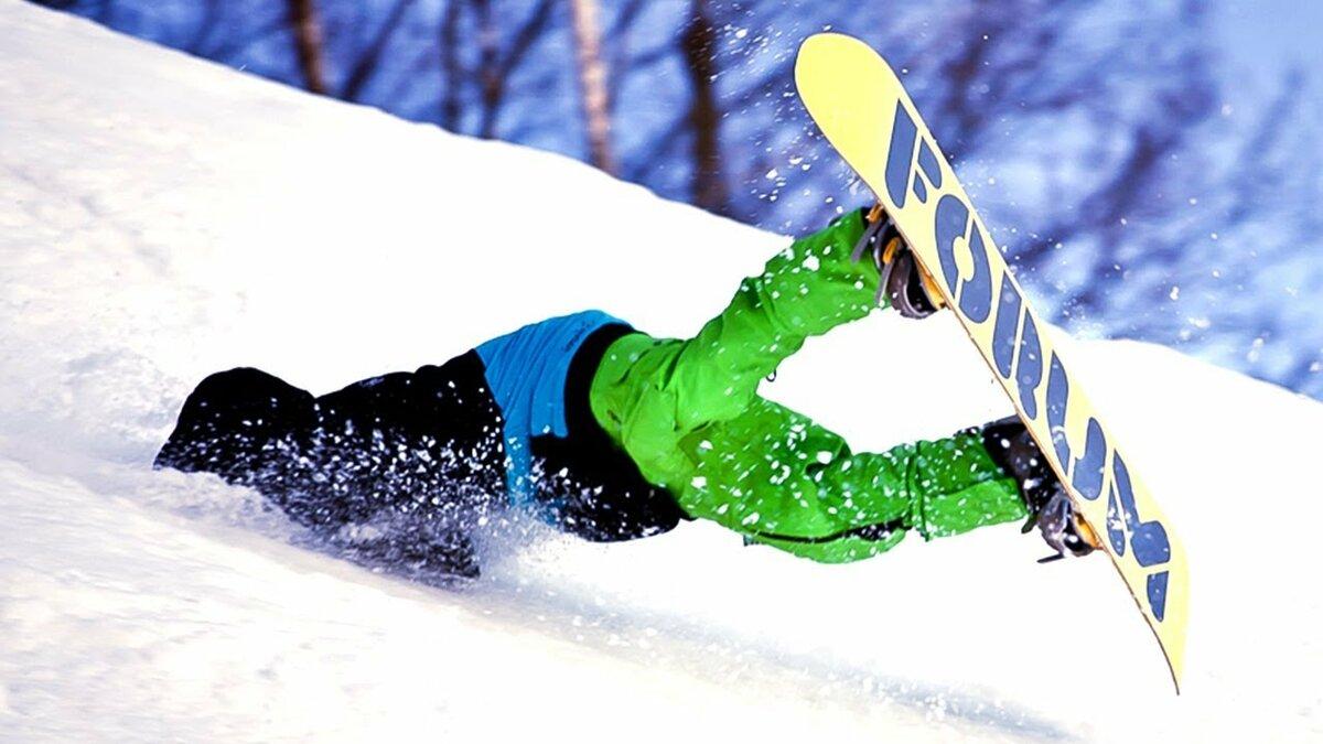 Прикольная картинка сноубордиста, новогодняя открытка