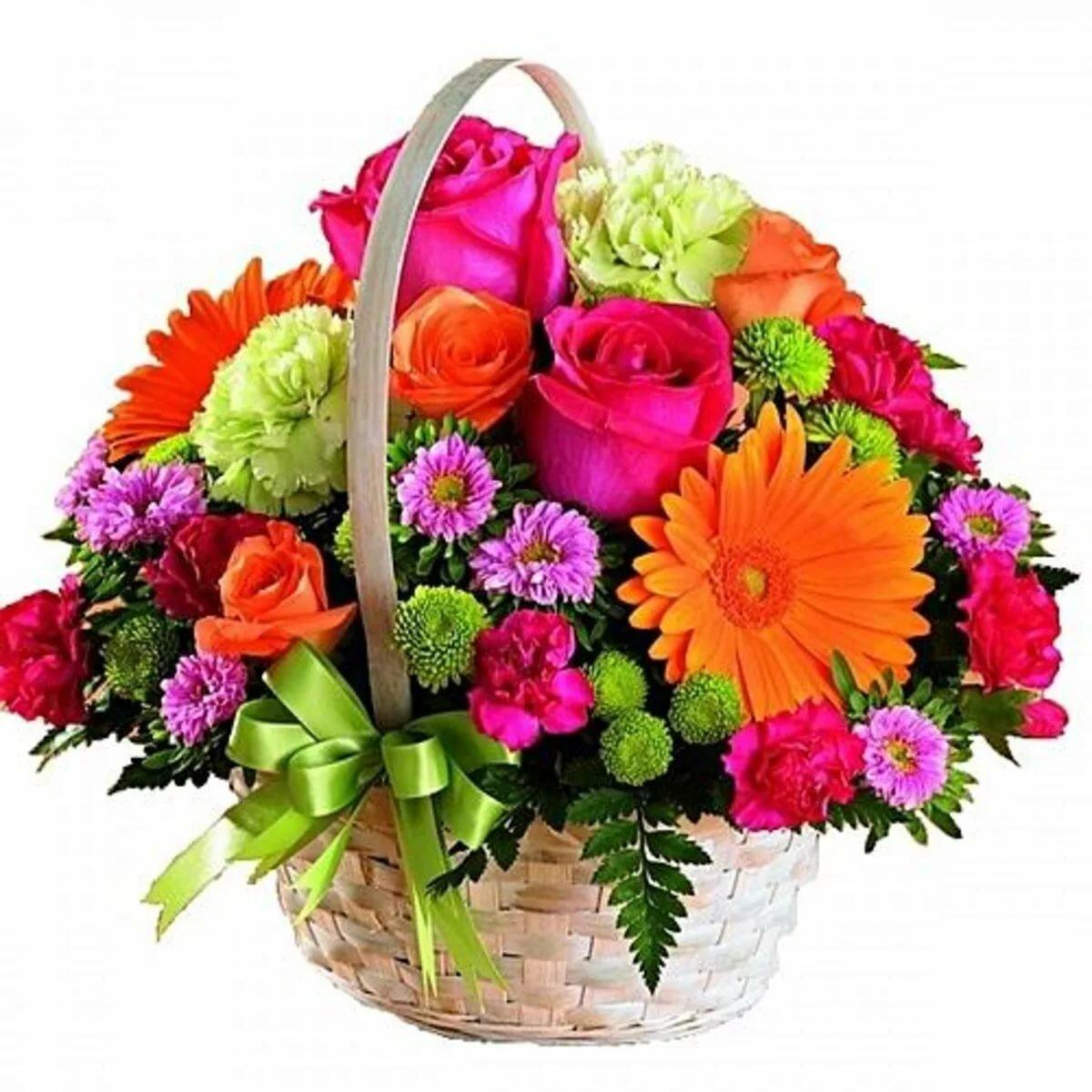 картинки цветов в карзине что