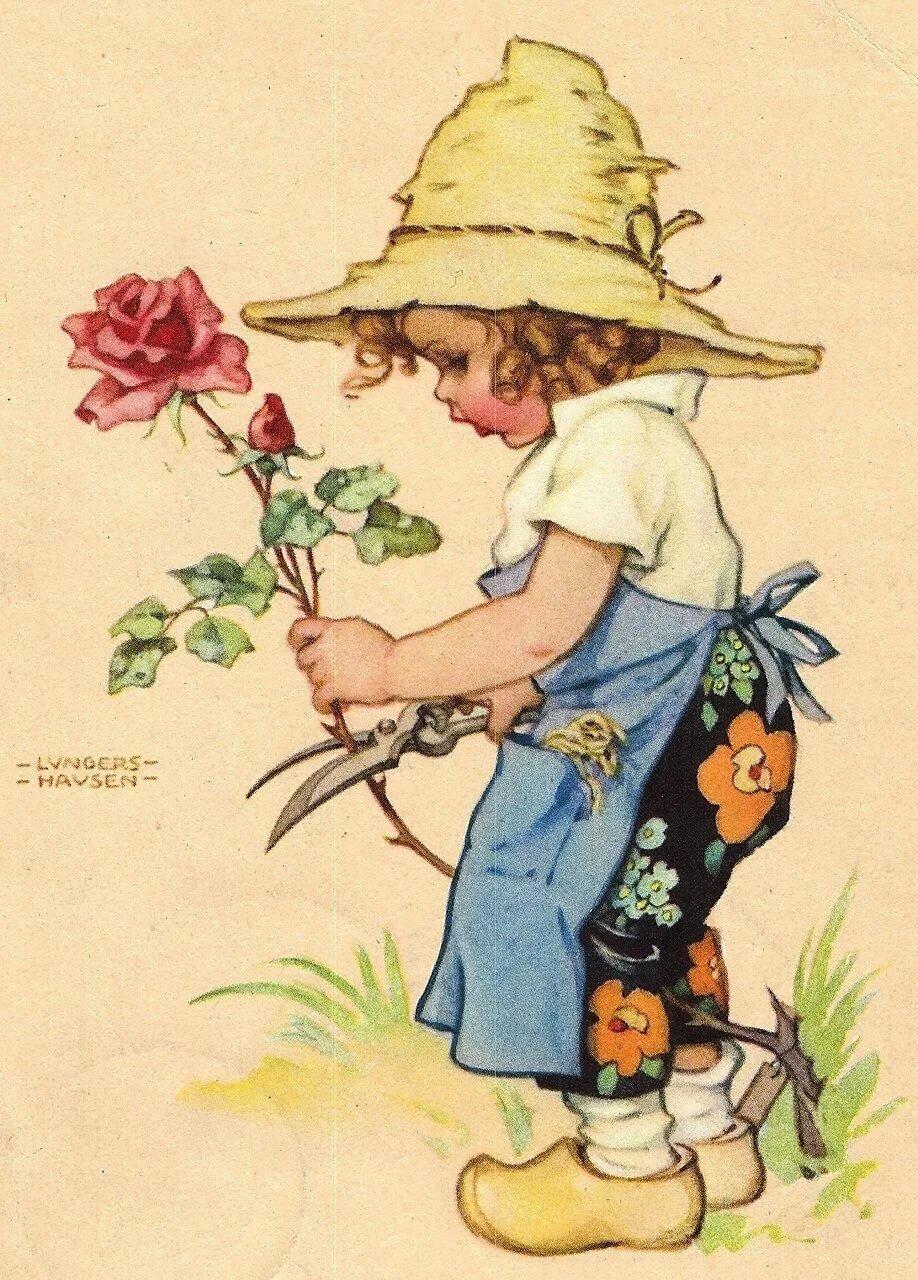 Старинные рисунки и открытки