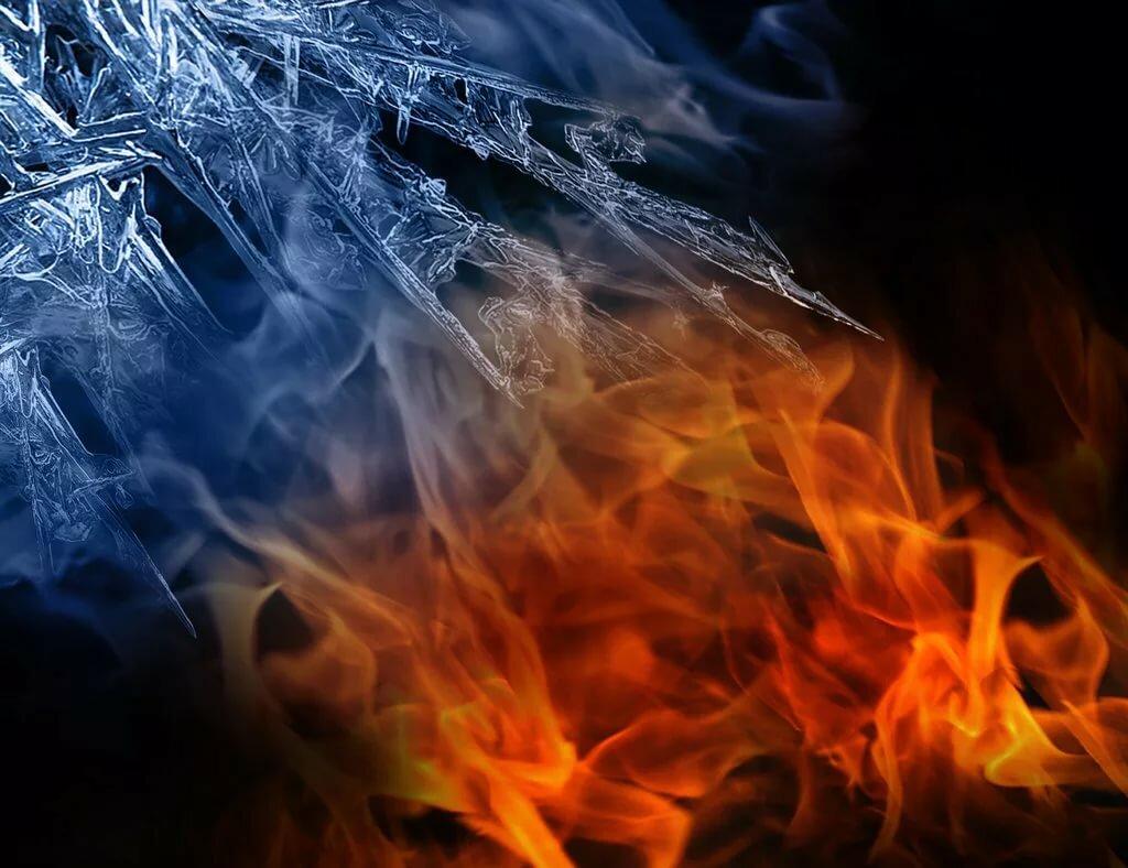 Картинки лед в огне