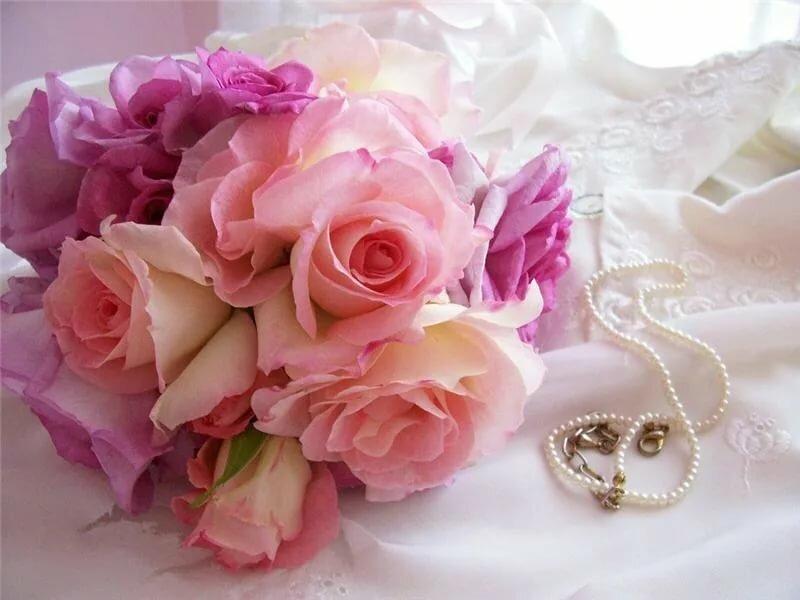 открытка с нежно розовыми цветами наш осмотр