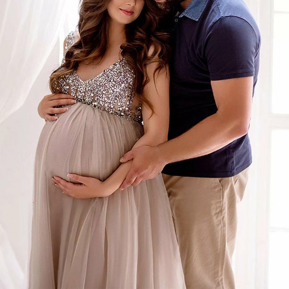 Беременная девушка и муж в картинках