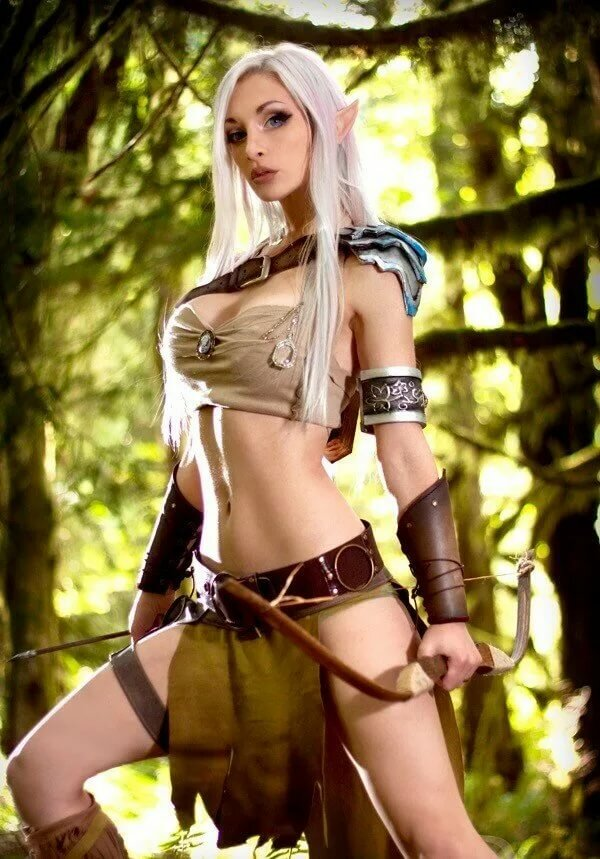 Extra frisky elven girlfriend is ready for some nude exposure