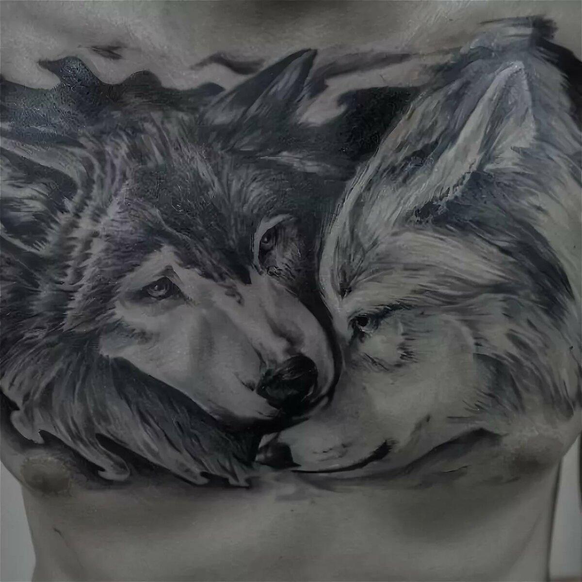 Тату картинки для мужчин волк