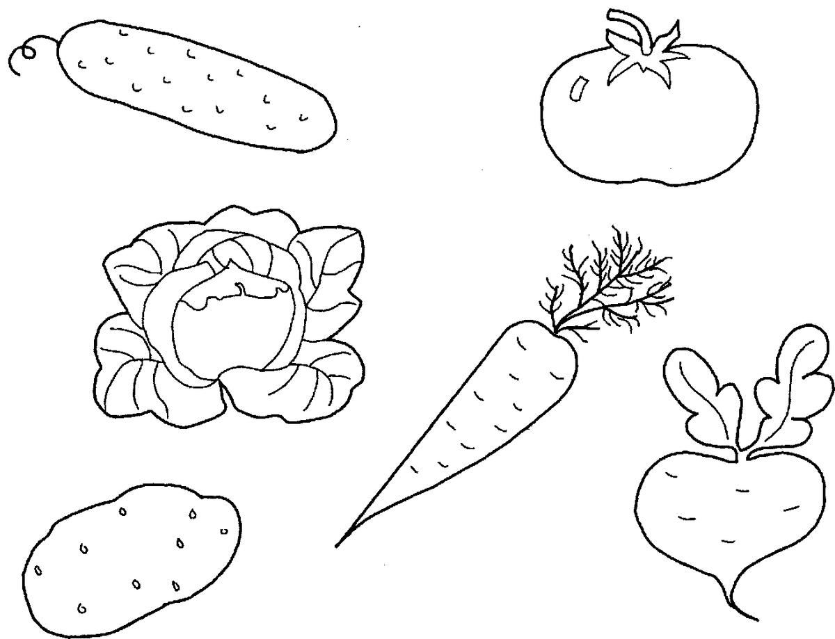 Черно белая картинка овощи