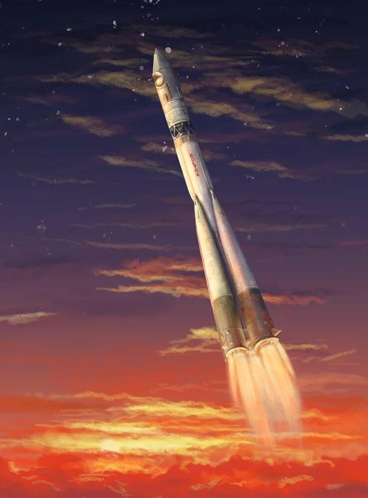 Картинка ракеты гагарина восток