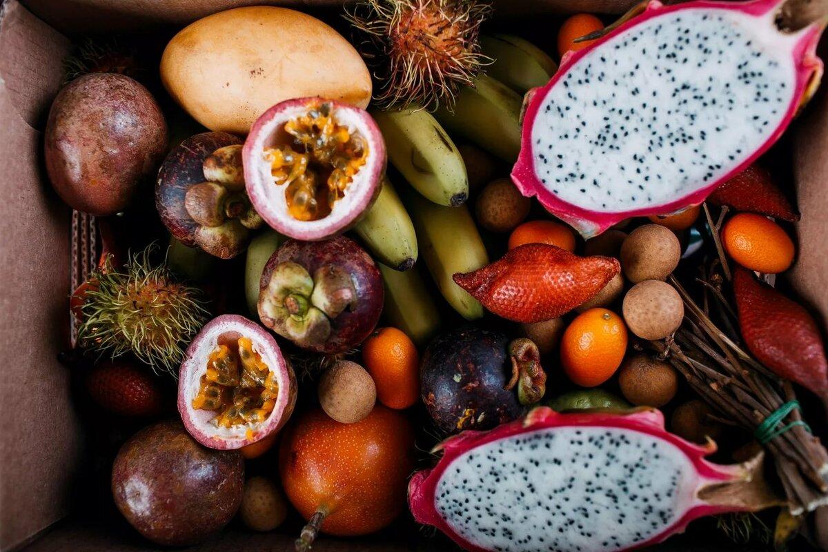 тропические фрукты названия картинки чем