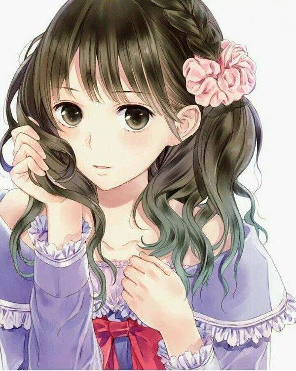 Картинки анимешек девочек милых