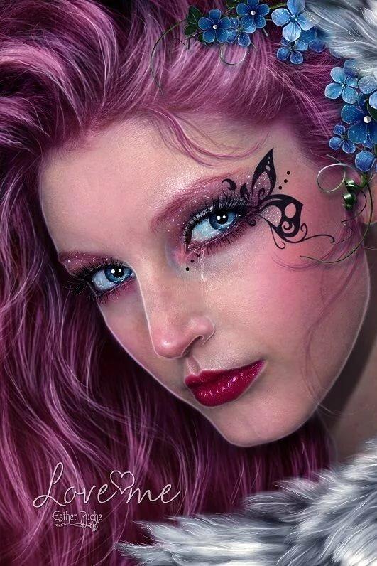 картинка лица феи цвет восходящего весеннего