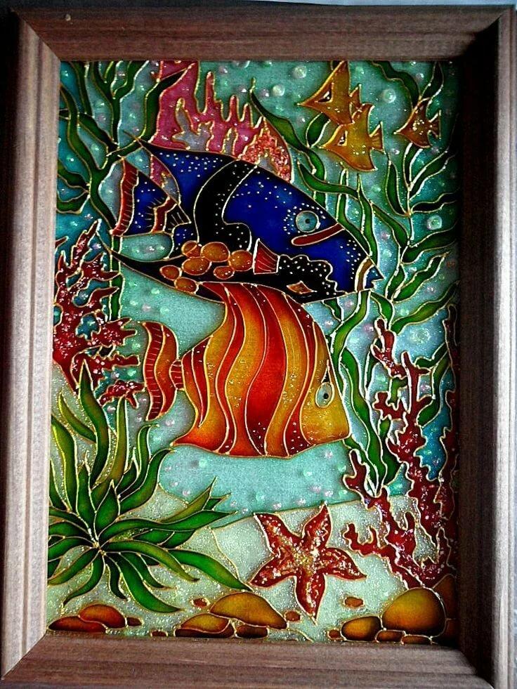 Роспись по стеклу открытка, открытка как дела