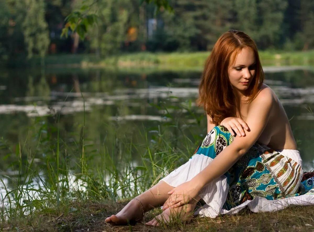 Частное фото голых русских девушек на природе