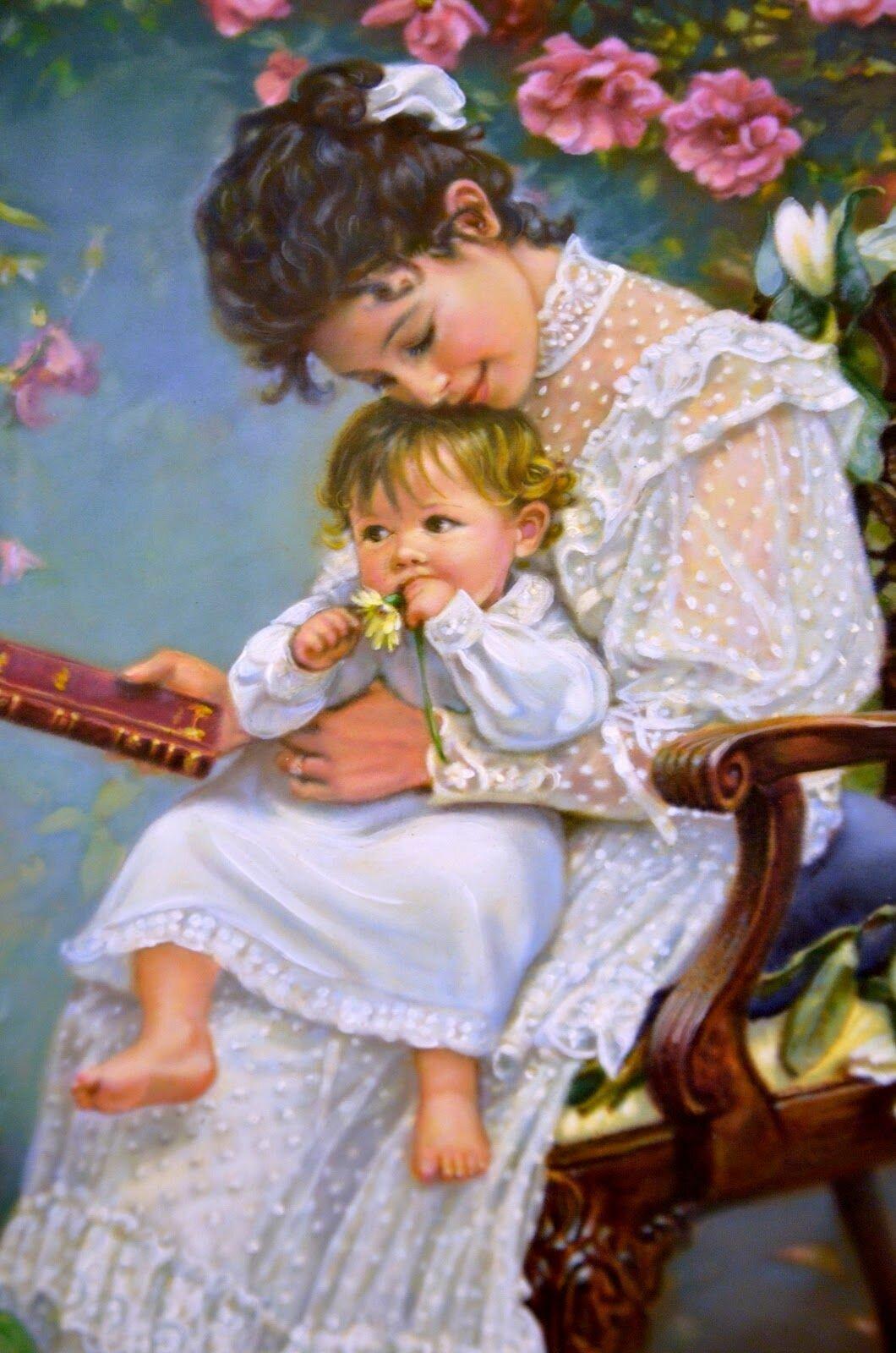 С днем матери красивые открытки анимированные