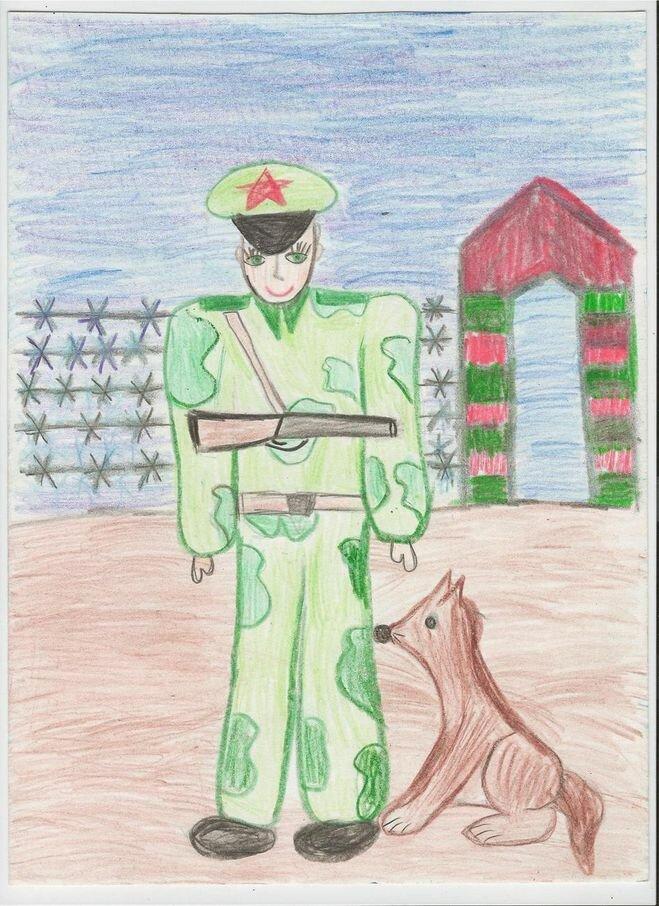 рисунок пограничники с собакой кому-то интересно сравнила