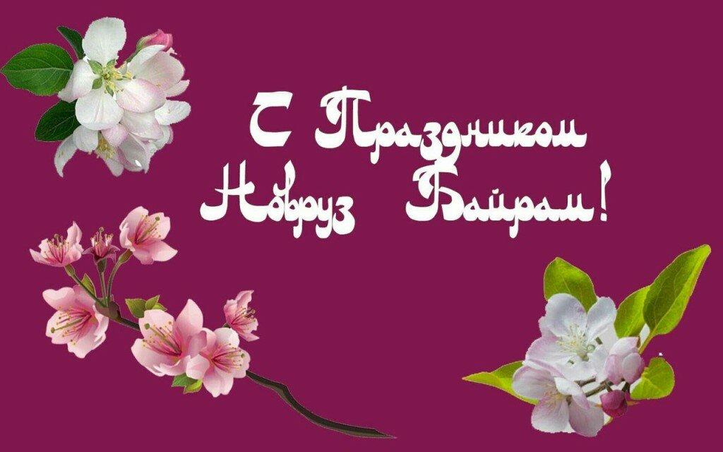 Бабочки, открытка с поздравлением праздника навруз
