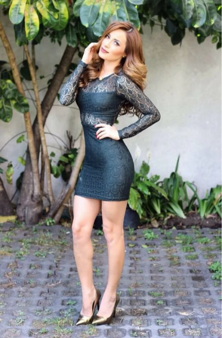 Latina in short skirts with captions, danielle nonude