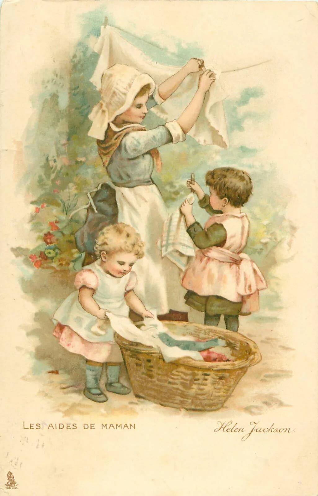 Днем рождения, антикварная открытка