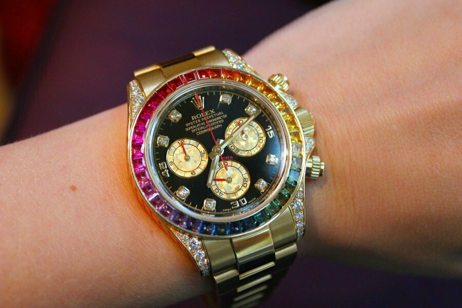 Часы Rolex White Gold Daytona Rainbow в Ачинске