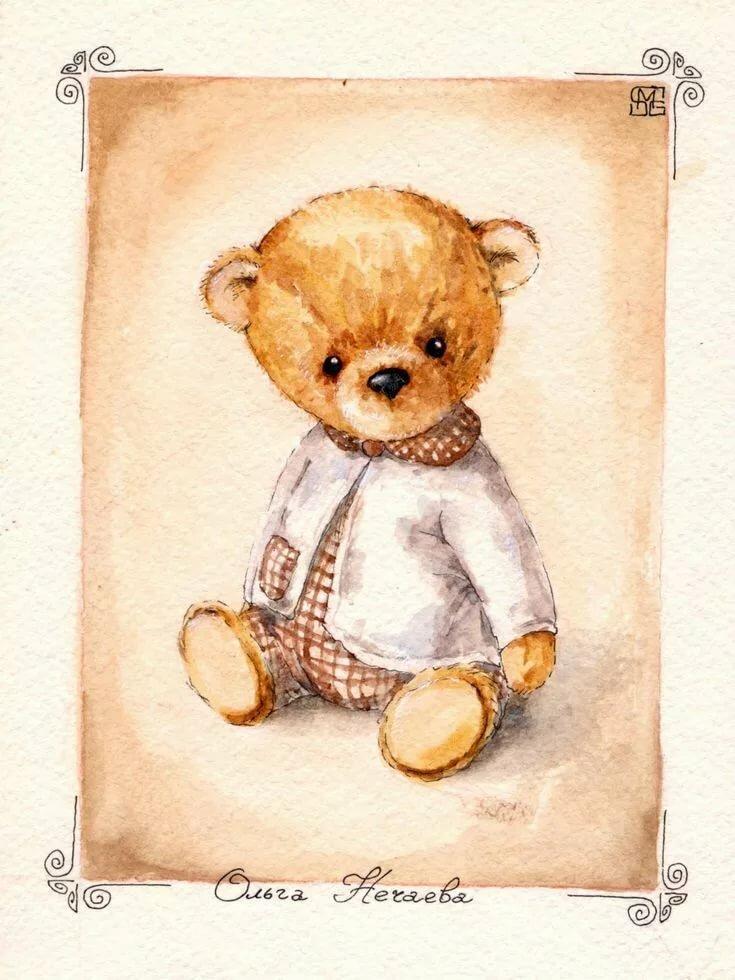 Мишка как на открытке