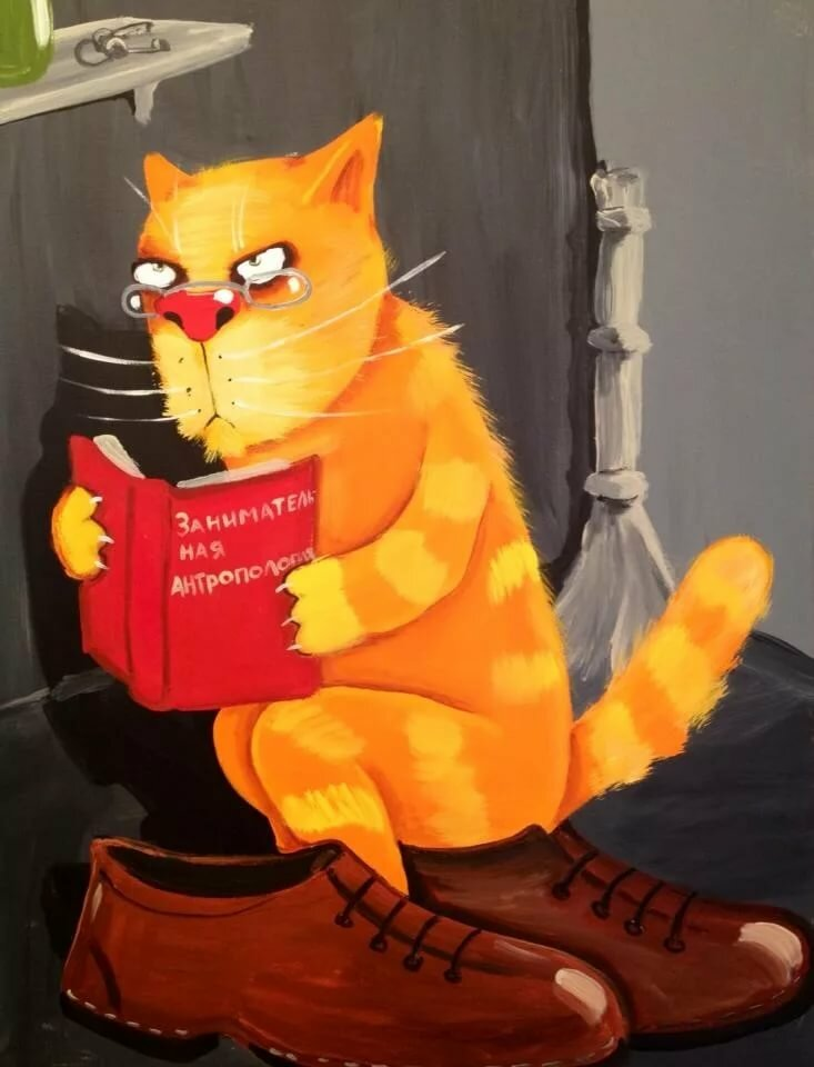 Рыжий кот смешные рисунки