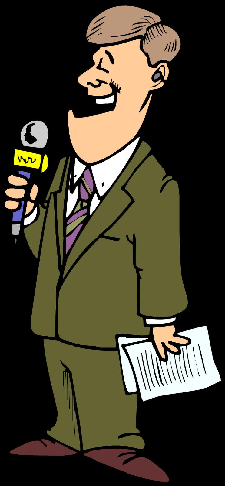 Картинка с журналист