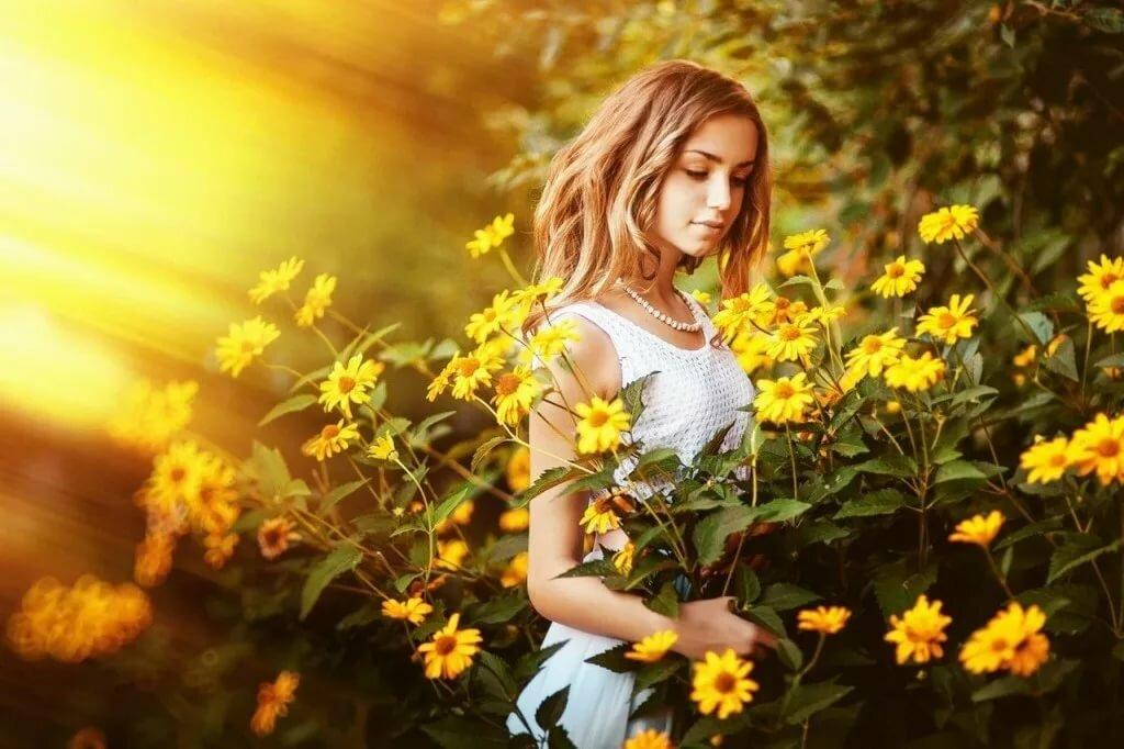 Картинки женщина и солнце, лет