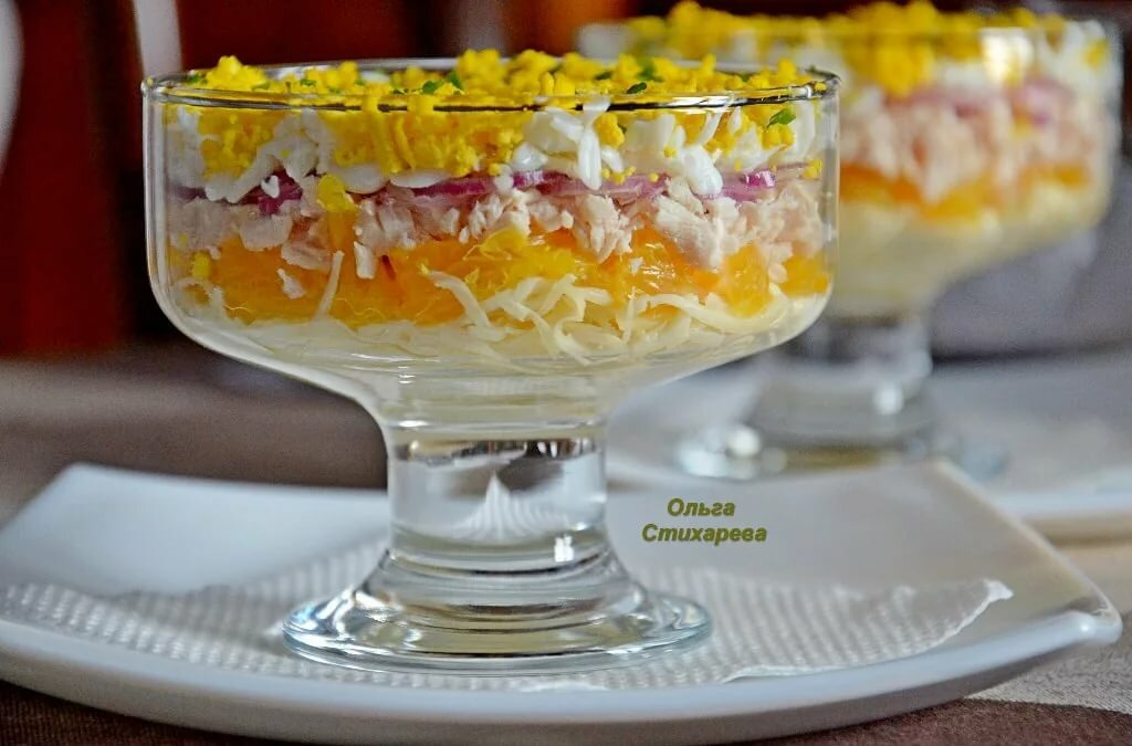 много салаты в креманках рецепты с фото пошагово может