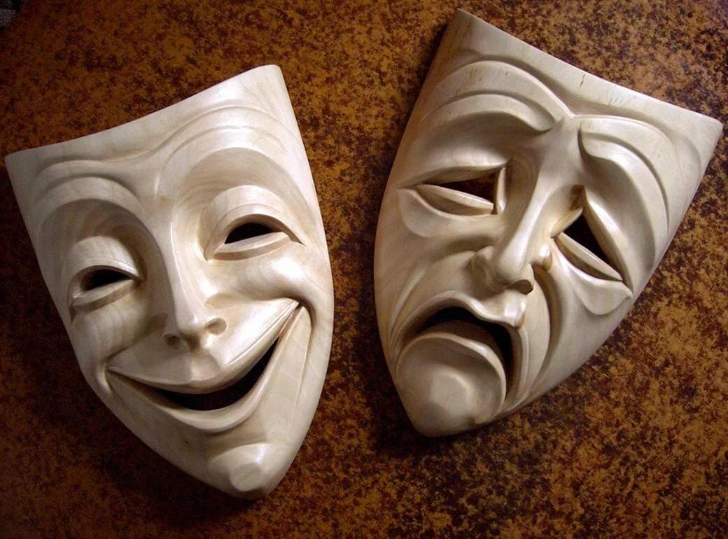маска печали картинки