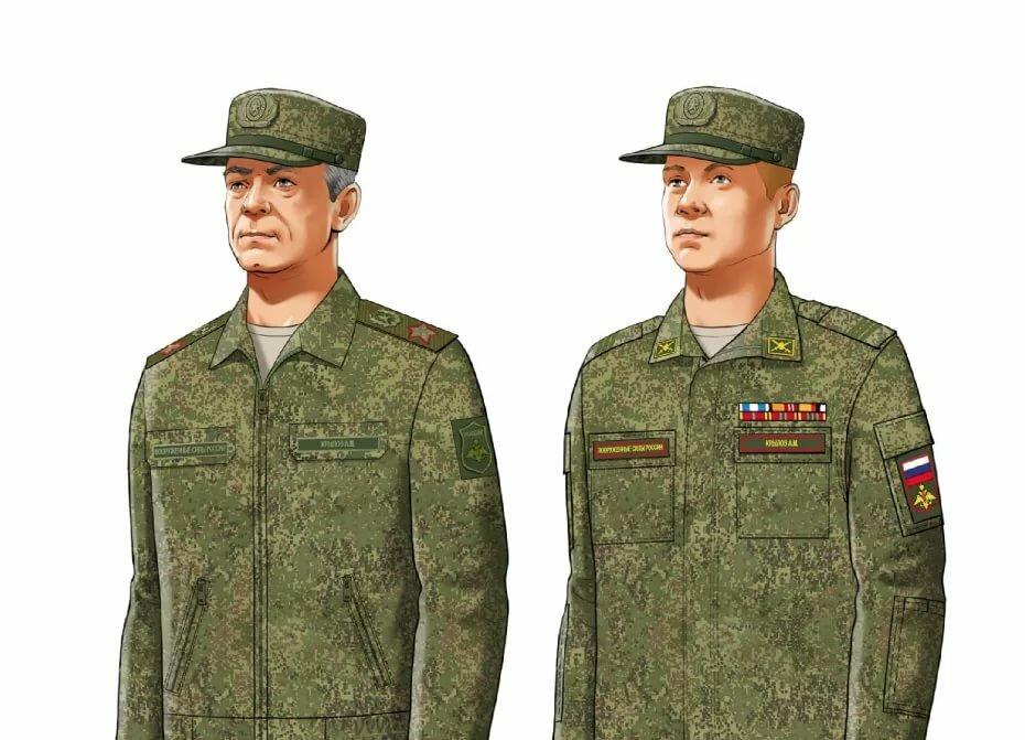 рецепты военная форма российской армии под длинными
