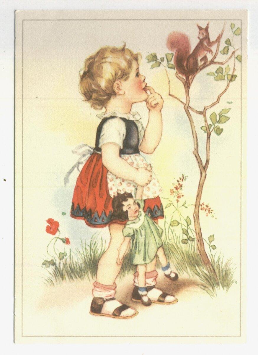Всего хорошего, немецкие открытки 50 годов