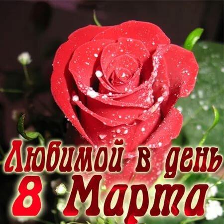 Поздравления с днем 8 марта любимой жене открытки