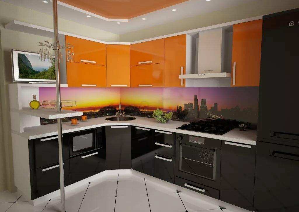 Кухни под углом картинки