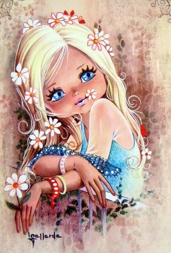 Аниме, нарисованные картинки детей прикольные девочки