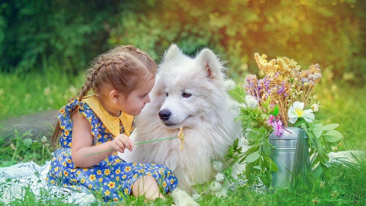 Картинки для детей с животными и цветами, открытки