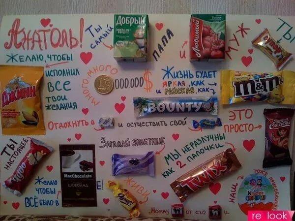 Шоколадки на ватмане поздравление для мамы