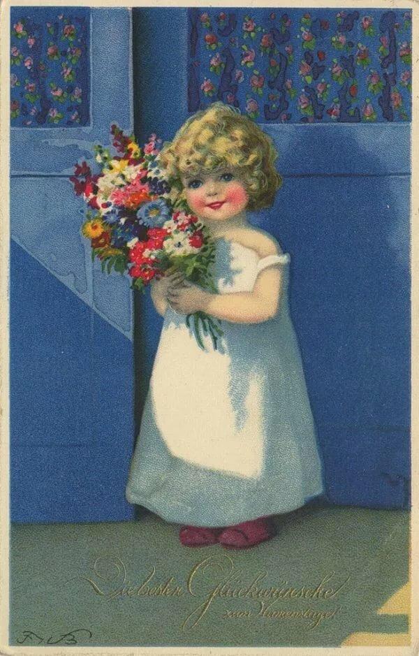 фото старых открыток на день рождения спальнию