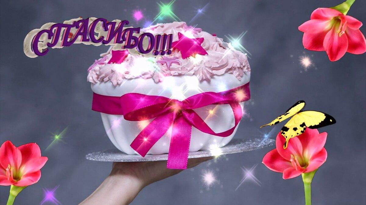 Спасибо анимация за поздравления с днем рождения в прозе