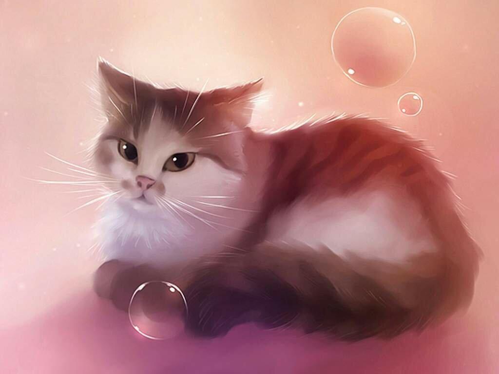 Смысле, картинки милые коты арты