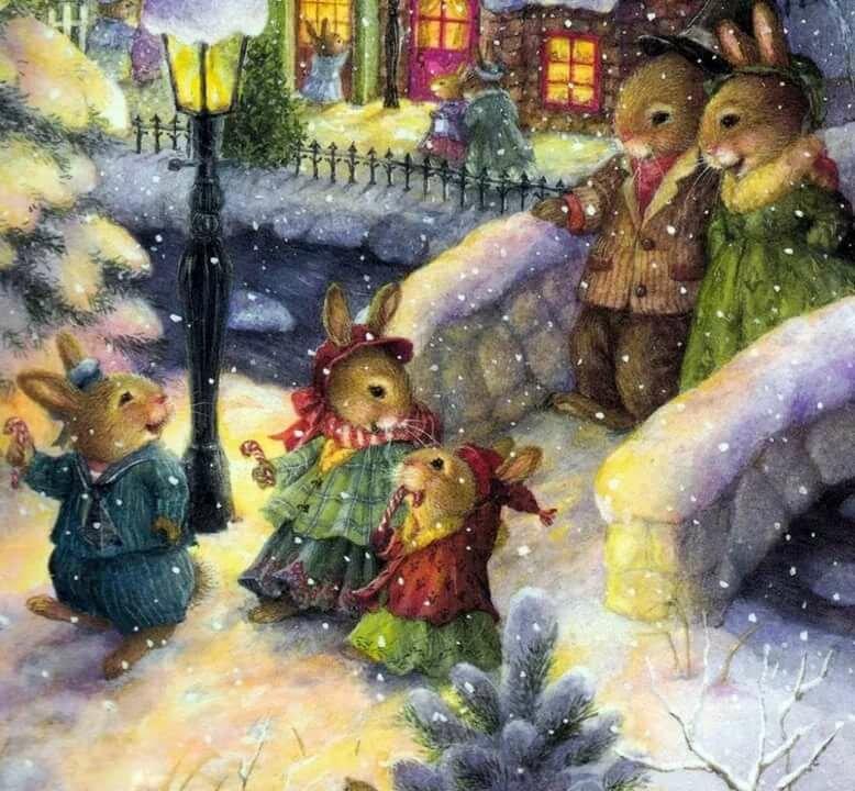Картинки зайка с рождеством