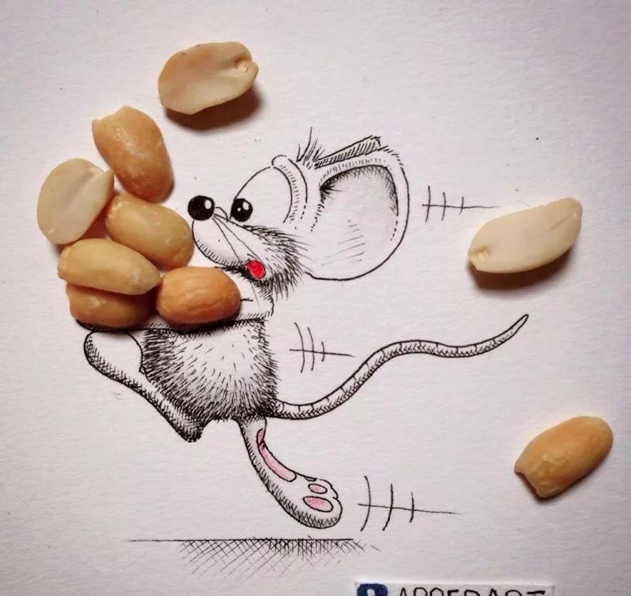 Мышки рисунки прикольные, про медведева