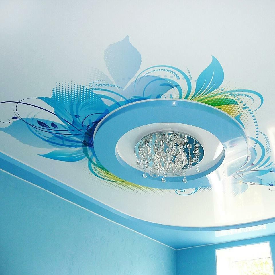 узоры натяжной потолок цветной картинки сарафан