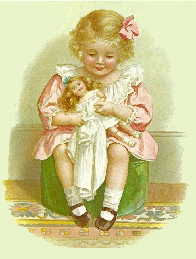 Винтажные открытки кукол