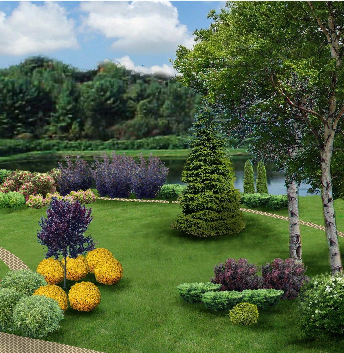 Дизайн сад картинки