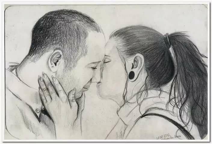 Нарисованные картинки про отношения карандашом