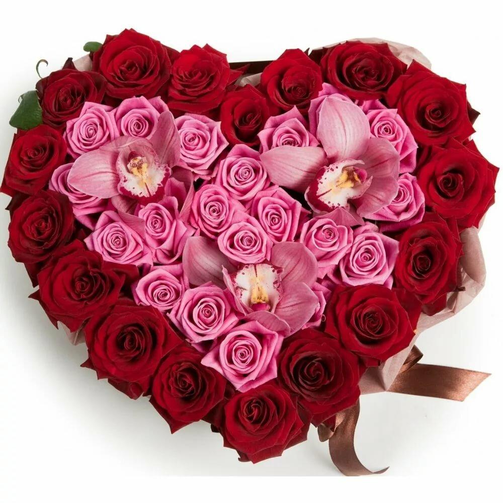 букеты цветов фото в форме сердца оснащение позволит